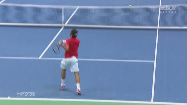 Federer - Bozoljac ( 6-4 ) : balle de 1er set. [RTS]