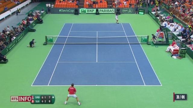 Tennis - Coupe Davis: Roger Federer et Stanislas Wawrinka ont apporté les premiers points pour la Suisse [RTS]