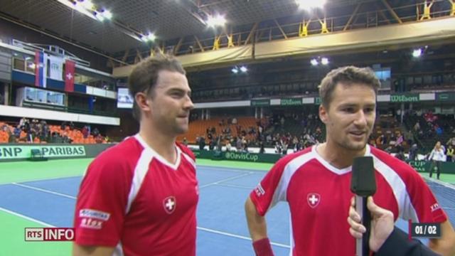Tennis - Coupe Davis: la Suisse est qualifiée pour les quarts de finale [RTS]