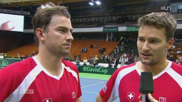 Tennis- Coupe Davis: la Suisse se qualifie pour les quarts de finale [RTS]