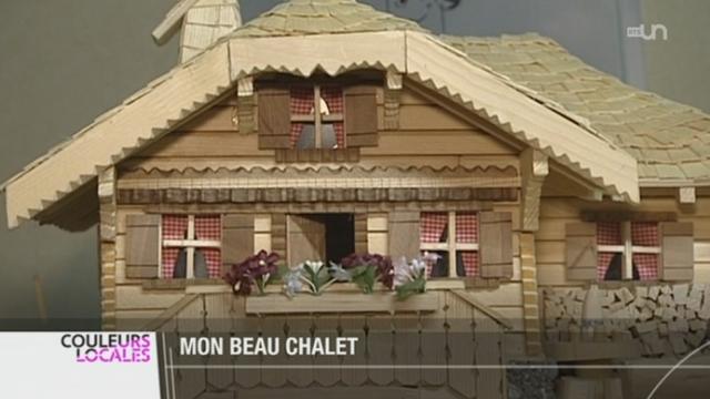 Fr Louis Barras Fabrique Des Chalets Miniatures Tout En Bois