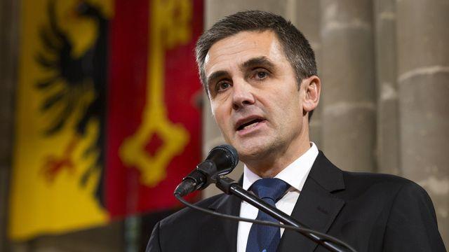 Le président du Conseil d'Etat genevois François Longchamp. [Salvatore Di Nolfi - Keystone]