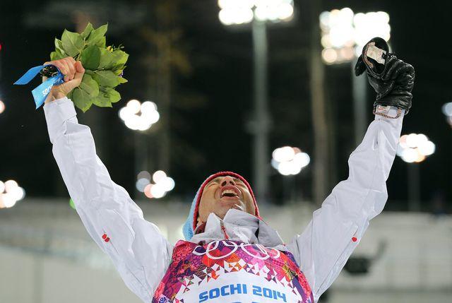 Ole Einar Bjoerndalen a remporté son septième titre olympique, 16 ans après son premier succès obtenu en 1998 à Nagano. [Armando Babani  - Keystone]