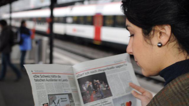 Leila, Française de 36 ans d'origine afghane, vit depuis neuf ans en Suisse. [Stéphane Deleury - RTS]