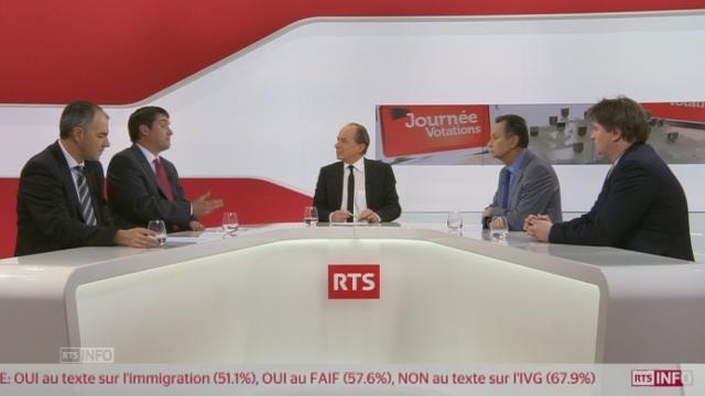 Oui à l'initiative UDC: le débat des présidents de partis [RTS]
