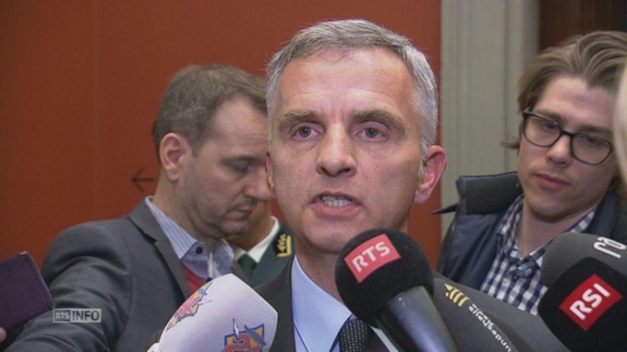 Didier Burkhalter rappelle que la Romandie a voté non [RTS]