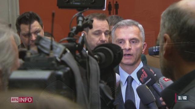 Initiative anti-immigration: Didier Burkhalter admet que la situation est compliquée [RTS]