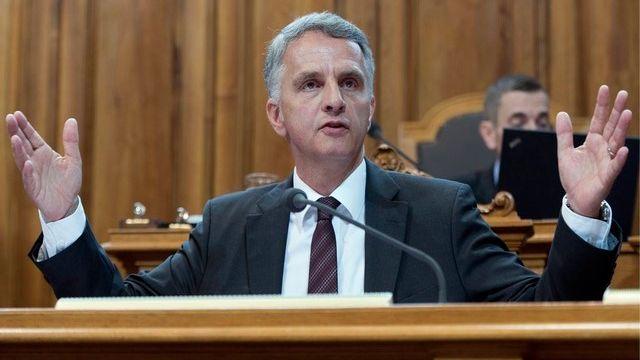 Didier Burkhalter, conseiller fédéral en charge du DFAE. [Lukas Lehmann / Keystone]