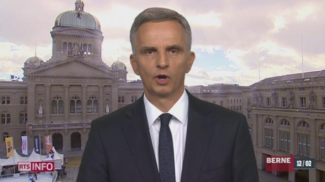 Initiative anti-immigration: le point avec Didier Burkhalter, président de la Confédération (2-2) [RTS]