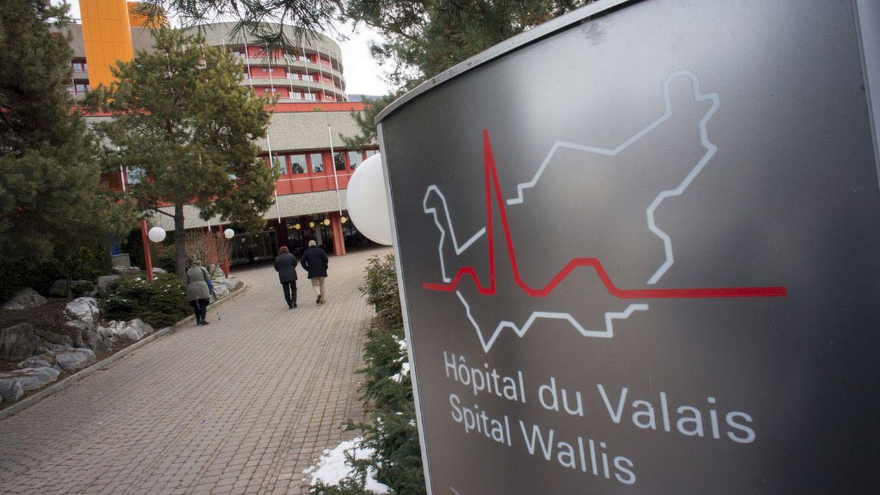Le site sédunois de L'Hôpital du Valais. [Olivier Maire - Keystone]