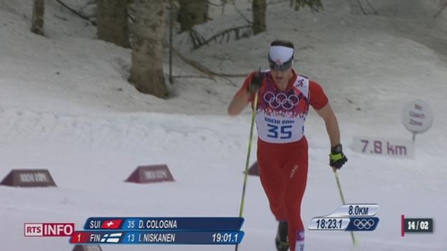 JO de Sotchi: Dario Cologna remporte l'or au 15km classique [RTS]