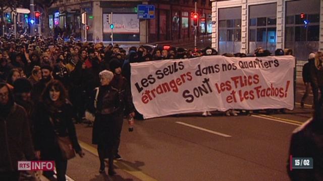 Votation du 9 février - Immigration: une nouvelle manifestation anti-racisme a été organisée [RTS]