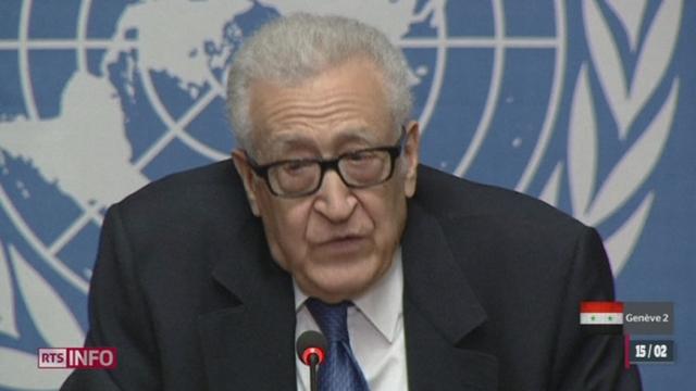 Syrie - Genève 2: l'émissaire de l'ONU, Lakhdar Brahimi, a mis fin aux discussions inter-syrienne [RTS]