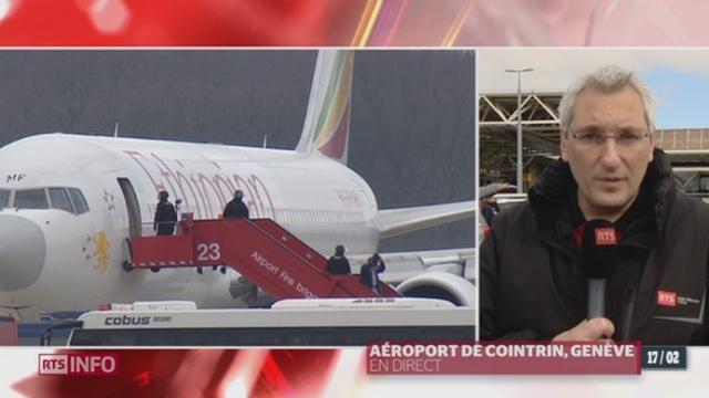 Détournement d'avion: les précisions de Joël Boissard, en direct de l'aéroport de Cointrin (GE) [RTS]