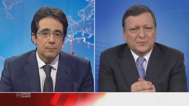 Libre-circulation non négociable, selon J.M.Barroso [RTS]