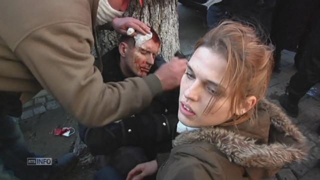 Escalade de violence dans les manifestations en Ukraine [RTS]