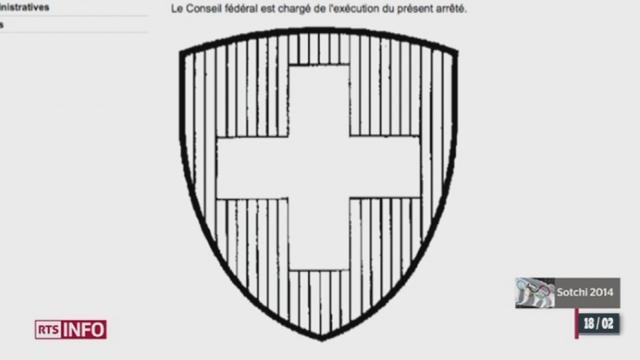 JO Sotchi: la forme du drapeau Suisse n'est pas réglementaire [RTS]