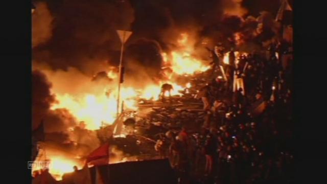 Nuit de violence dans la capitale ukrainienne [RTS]