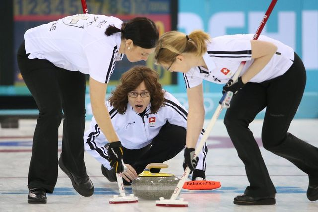 Les Suissesses affrontent la Grande-Bretagne pour décrocher une médaille de bronze. [Keystone]