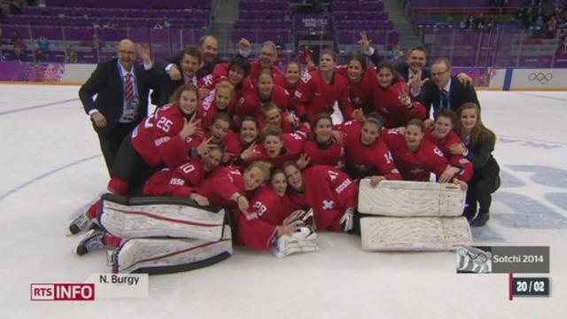 JO de Sotchi - Hockey féminin: la Suisse décroche le bronze [RTS]