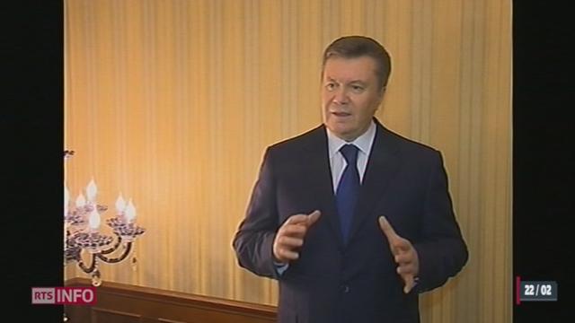 Ukraine: le Parlement a voté la destitution du président [RTS]