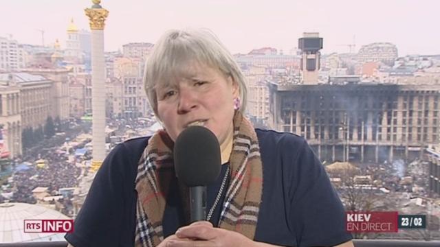 Situation en Ukraine: entretien avec Tatiana Golyshenko, professeur de philosophie à l'Université de Kiev [RTS]
