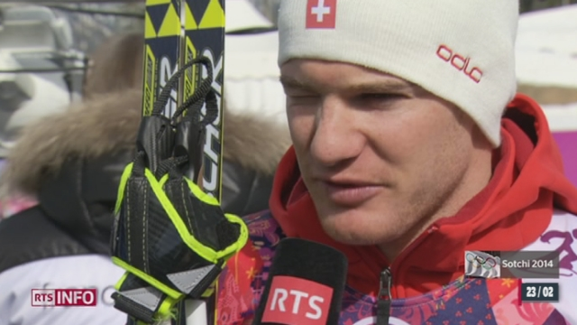 JO de Sotchi - Ski de fond: Dario Cologna a encore échoué à l'épreuve du 50 kilomètres [RTS]