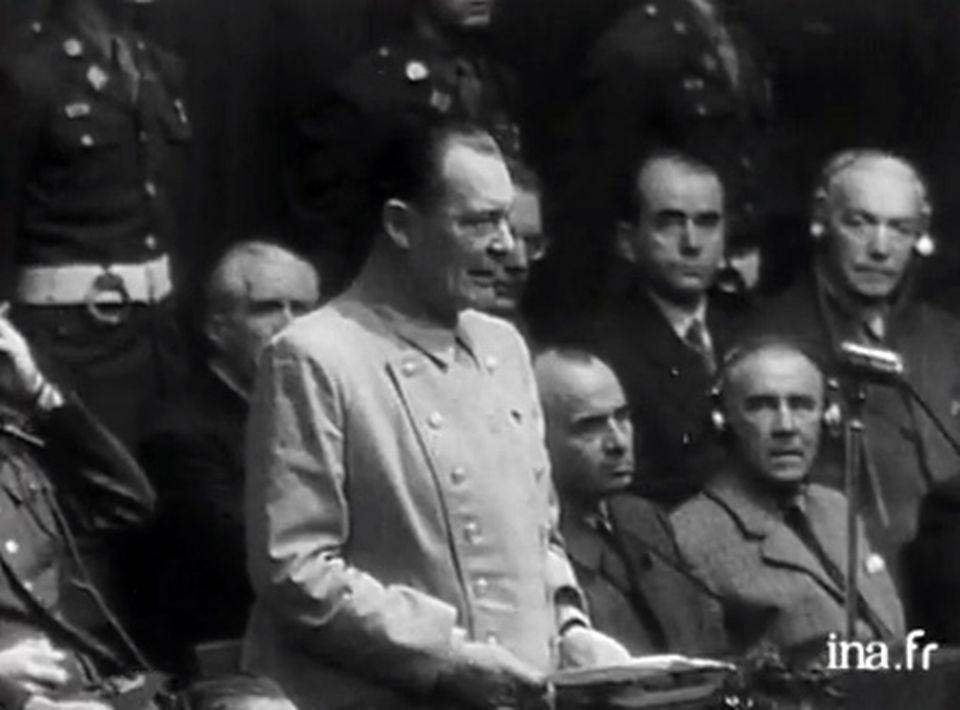 L'ouverture du procès de Nuremberg. [INA]