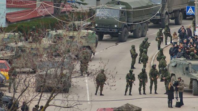 La tension monte autour de la Crimée. [Anton Pedko - EPA/Keystone]