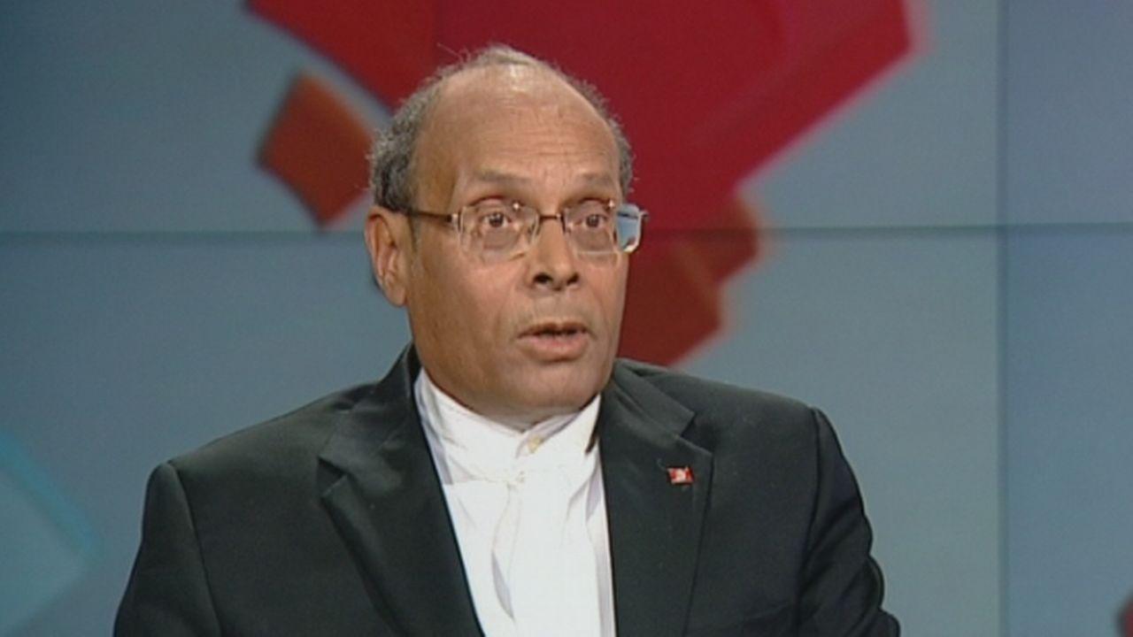 Moncef Marzouki demande l'aide de la Suisse [RTS]