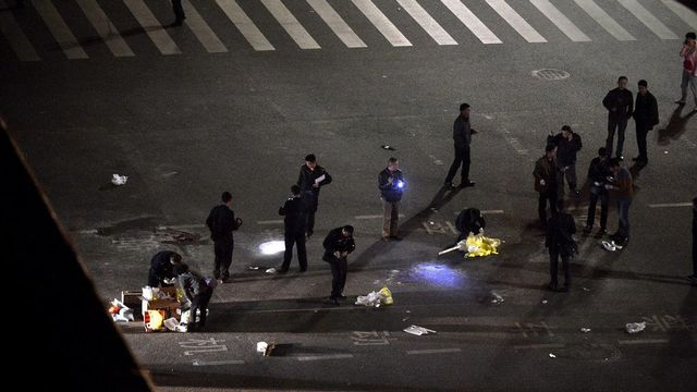 Des attaques au couteau ont eu lieu à Kunming, en Chine. [Sui Shui - EPA/Keystone]