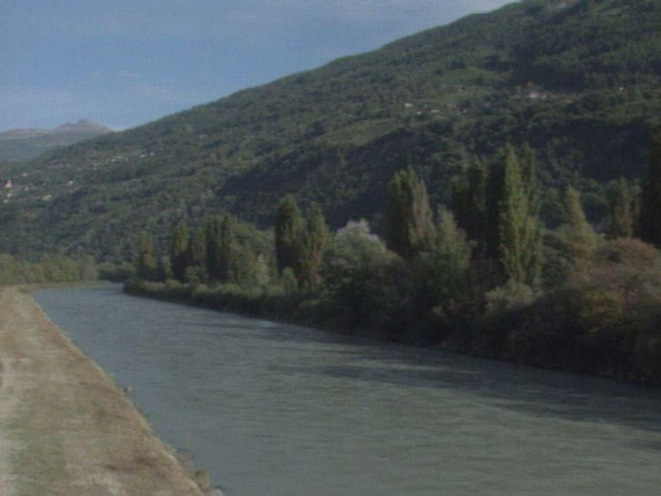 Berges du Rhône en Valais en 1997 [RTS]