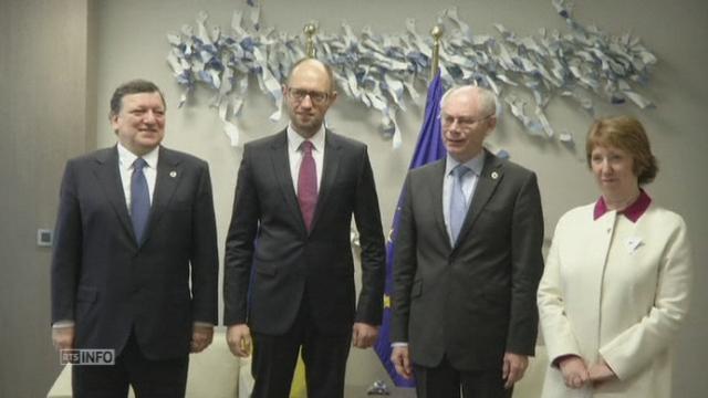 Le Premier ministre ukrainien accueilli à Bruxelles [RTS]