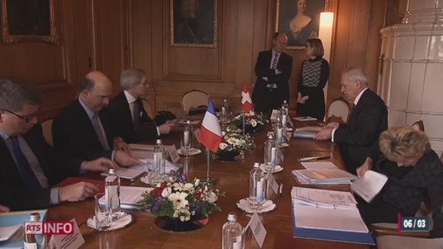 Pierre Moscovici a rencontré trois conseillers fédéraux à Berne jeudi [RTS]