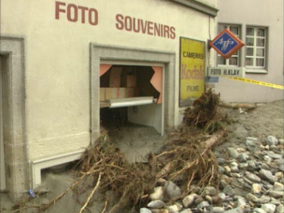 Inondations à Brigue en 1993. [RTS ]