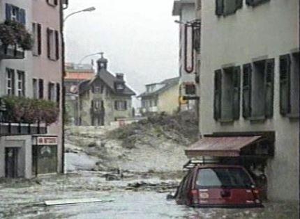 Inondations à Brigue