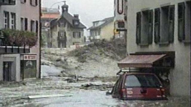 Inondation à Brigue en 1993 [RTS]