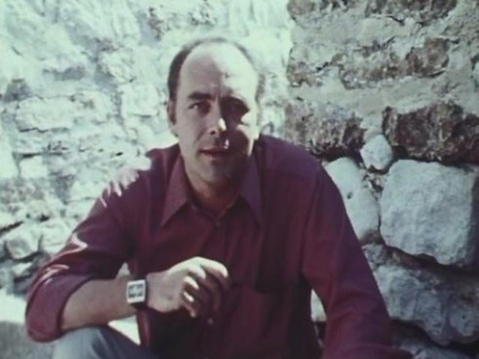 Pierre Gisling dans l'émission <i>L'oeil apprivoisé<-i> en 1973. [RTS]