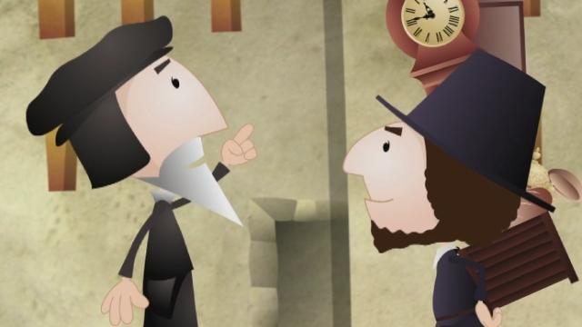 1550: Jean Calvin et l'horlogerie-bijouterie [RTS]