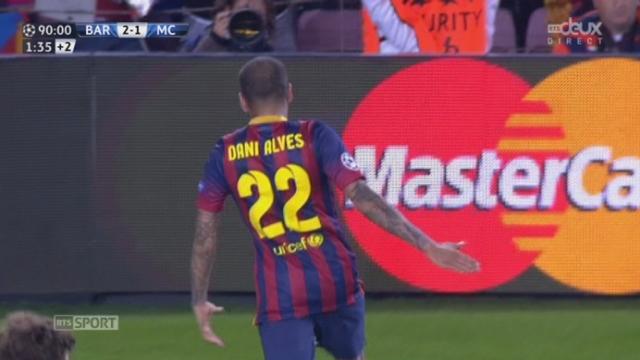 1-8 (retour), FC Barcelone - Manchester City (2-1): D.Alves décroche un 2e goal pour Barcelone qui clôt ce match [RTS]