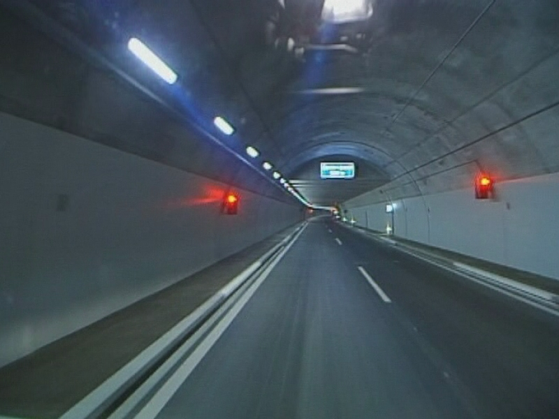 Le tunnel de contournement de Sierre en 1999.