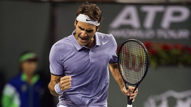 """RF"" disputera contre Dolgopolov sa 44e demi-finale d'un tournoi Masters 1000. [Daniel Murphy - Keystone]"