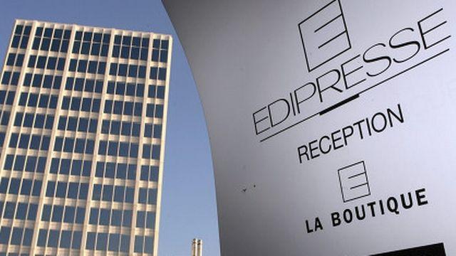 Un appel pour un sit-in devant Edipresse à Lausanne a été lancé. [Keystone]