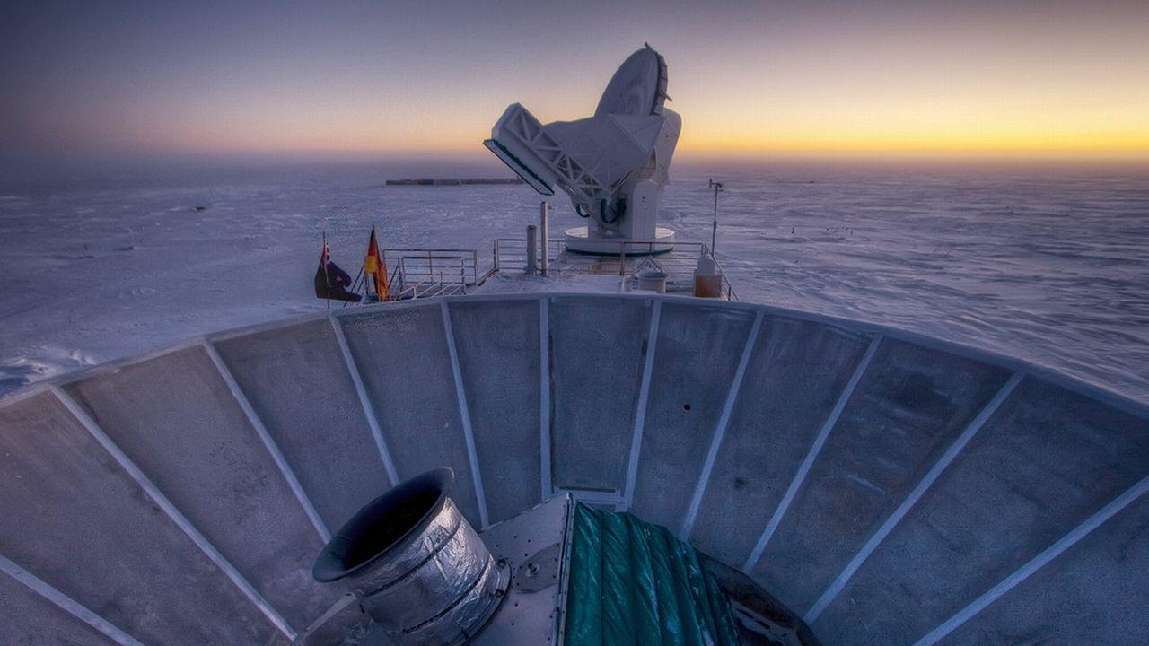 La percée en cosmologie a résulté d'observations effectuées avec le télescope BICEP2, situé dans l'Antarctique [AP Photo/Steffen Richter - Keystone]