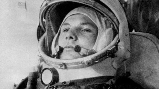 Youri Gagarine le 12 avril 1961 à bord du vaisseau Vostok. [AFP]