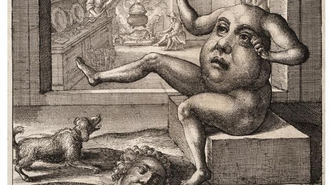 "Gravure de Wenceslas Hollar ""The Members and the Belly"". [dr]"