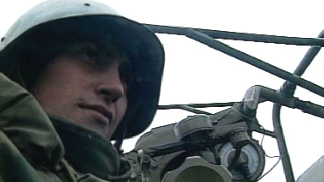 Soldat russe en Tchétchénie, 1999. [RTS]