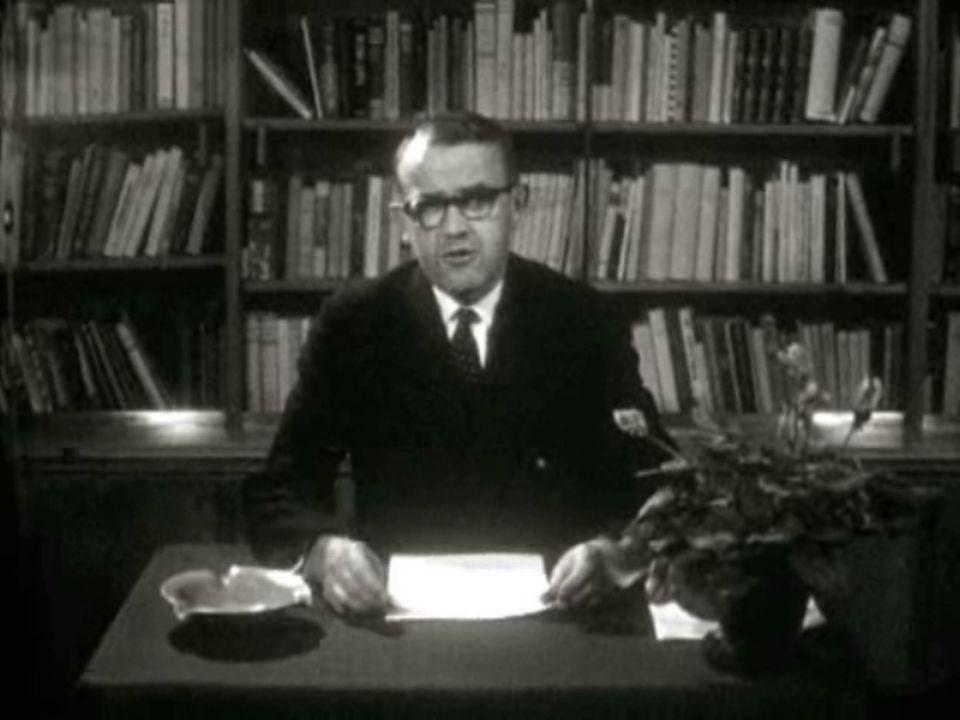 Les voeux du président de la Confédération Max Petitpierre en 1960. [RTS]