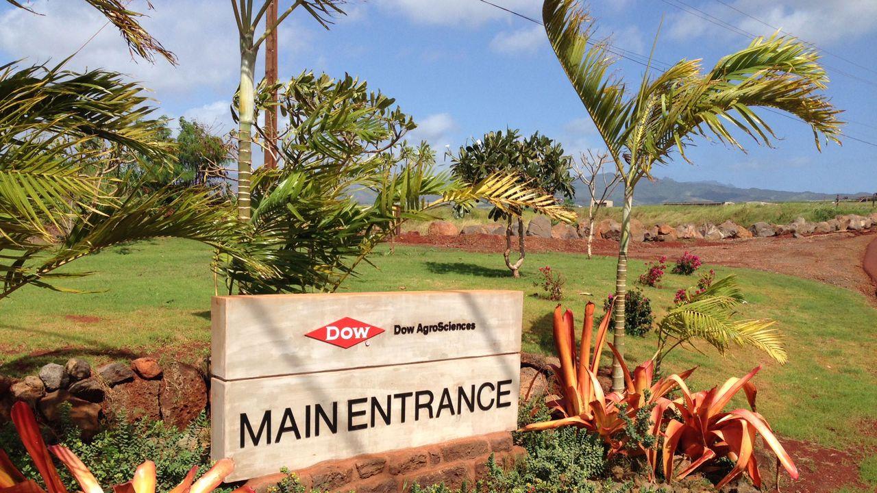 L'entrée du complexe de Dow sur l'île de Kauai. [Eric Guevara-Fre - RTS]