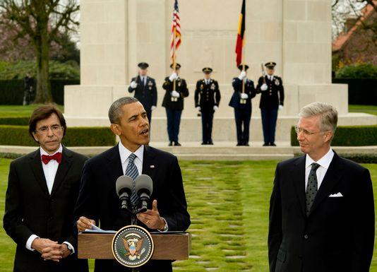 Barack Obama au sommet UE-Etats-Unis à Bruxelles. [EPA/BENOIT DOPPAGNE]